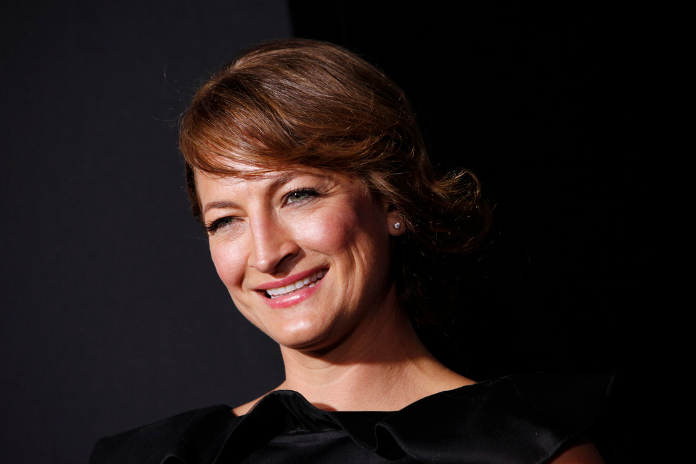 Description of . Actress Zoe Bell arrives at the premiere of the film