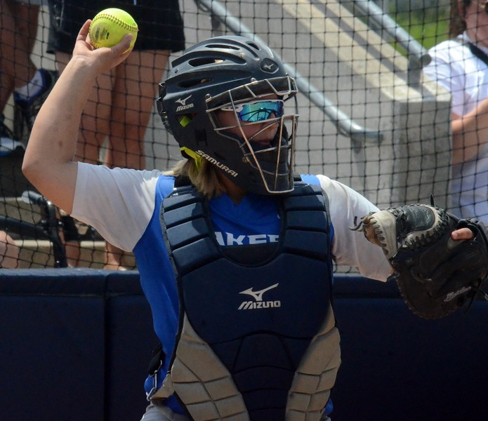 Waterford Our Lady of the Lakes suffered a 4-0 loss to Unionville-Sebewaing in the Division 4 softball quarterfinal on Tuesday at Saginaw Valley State University. (Oakland Press photo gallery by Drew Ellis)