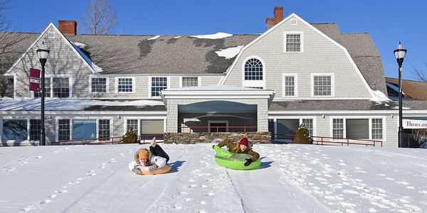 Tubing on the Peterson Manor Lawn 1-31-19