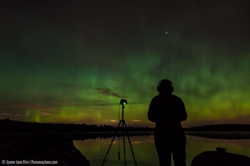 Northern Lights in Beach Lake