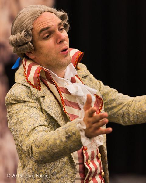 Baritone Thomas Dolié in Opera Lafayette's production of Grétry's L'Éperuve Villageoise