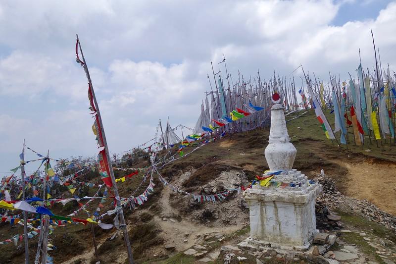 prayer flags at Cheli La pass (3810m - 12,500ft)