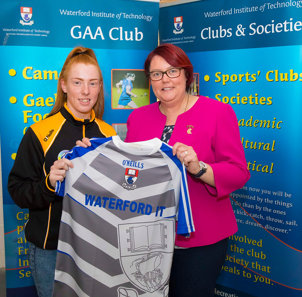WIT holds event to honour 2016 All Ireland medal winning students. Pictured with the  President of the Camogie Association Catherine Neary is Aine Gannon of the Kilkenny Senior Camogie Team. Picture: Patrick Browne  Waterford Institute of Technology's presence and influence across Gaelic Games at a national level in 2016 has been very noticeable. In total there are 32 past and present WIT students on the respective playing panels that won All Ireland medals in 2016 and a further 4 members on the backroom management teams.   To honour this huge achievement, WIT GAA Club is paying tribute to these 36 past members on securing these prestigious national titles on Monday 3 October, 6.30pm at the WIT Arena.   Along with the players, the prestigious cups, including the All Ireland Senior Hurling Cup- Liam McCarthy, the All Ireland Senior Camogie Cup- O'Duffy, The All Ireland Minor Cup and the All Ireland Under 21 Hurling Cup- James Nowlan, will be on show on the night.