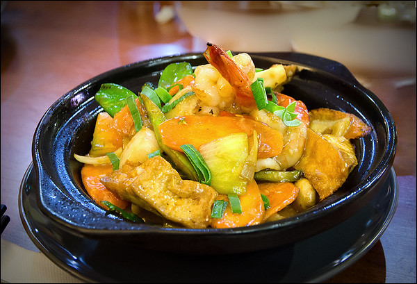 Special Tofu Pot with Prawn