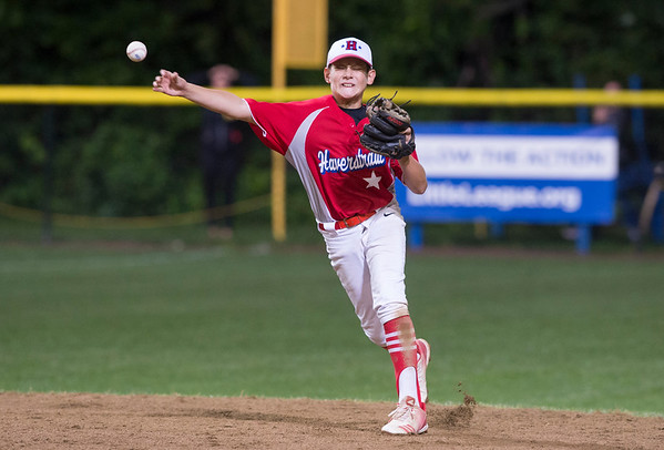 08/08/19 Wesley Bunnell | Staff New York defeated Washington, DC 15-4 on Thursday August 8, 2019 in a Mid Atlantic Region tournament game. Nick Becker (22) throws to first for the final out of the game.