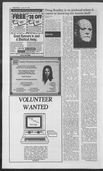 Daily Trojan, Vol. 127, No. 40, March 20, 1996