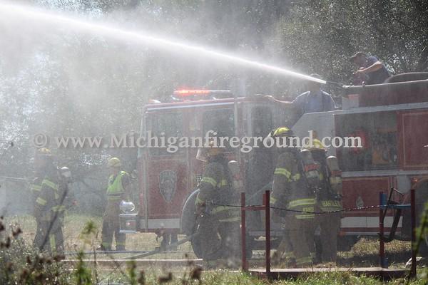 8/31/18 - Stockbridge barn fire, 4788 E. Dansville Rd