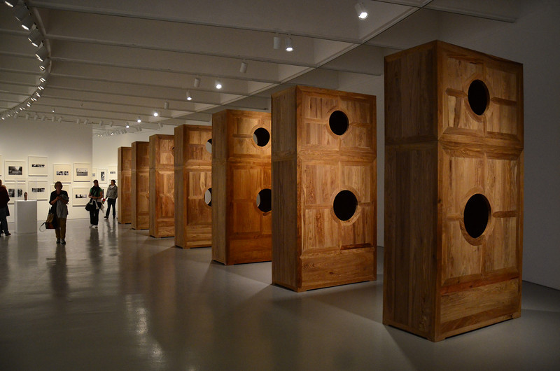 Holes in the cabinets are placed to show the phases of the moon, see next photo. Smithsonian Institution Hirshhorn Museum and Sculpture Garden, Ai WeiWei, According to What?