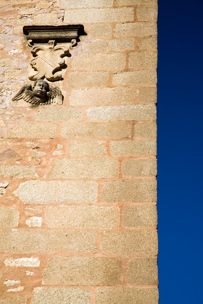 Detail from a wall, Santiago church, Caceres, Spain