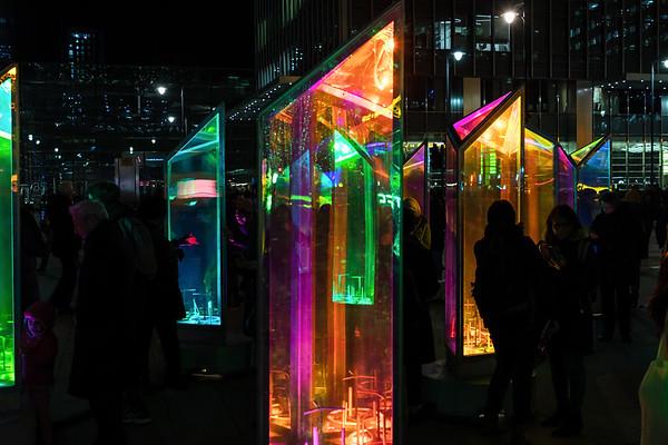 Winter Lights Canary Wharf Jan 2019