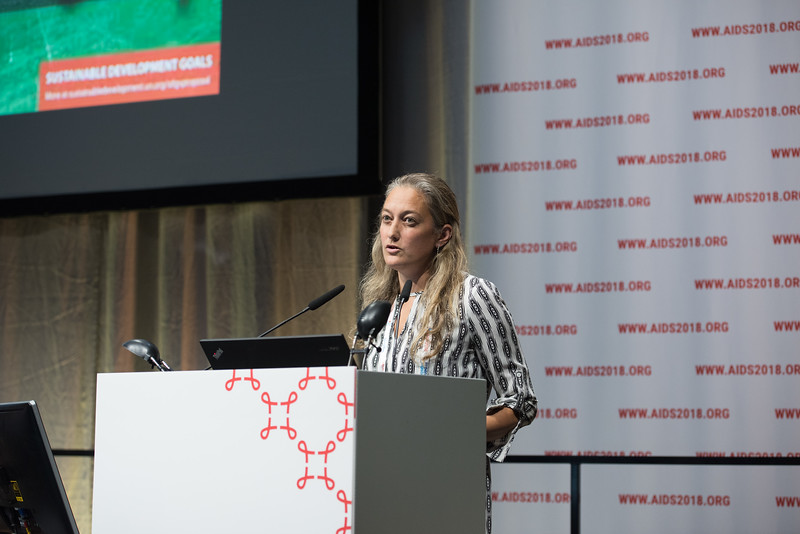 22nd International AIDS Conference (AIDS 2018) Amsterdam, Netherlands   Copyright: Marcus Rose/IAS  Photo shows: STI 2018. Key and Marginalised Populations. Speaker: Kate Shannon.