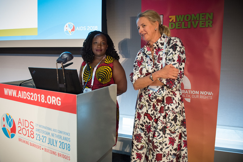 22nd International AIDS Conference (AIDS 2018) Amsterdam, Netherlands   Copyright: Marcus Rose/IAS  Photo shows: Generation Now: Our health, Our Rights. Co-Chairs Daphine Abaho, Mildmay, Uganda & HRH Mabel van Oranje-Nassau
