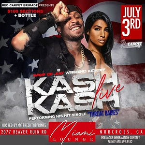 RED CARPET FRIDAYS JULY 3rd 2020 FEATURING KASH KASH