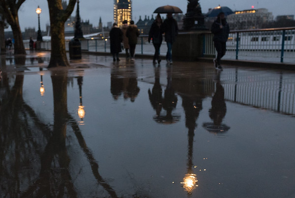Rainy afternoon in London