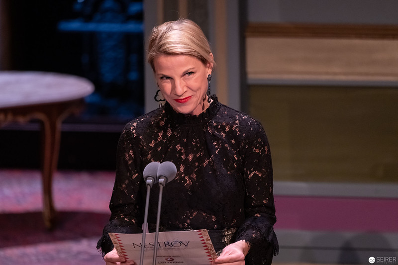 Kristina Sprenger - Nestroy Verleihung 2018