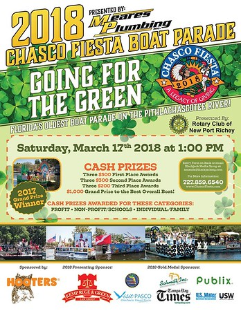 Events:...2018-03-17   Chasco Fiesta Boat Parade.Pithlachascotee River,New Port Richey,fl