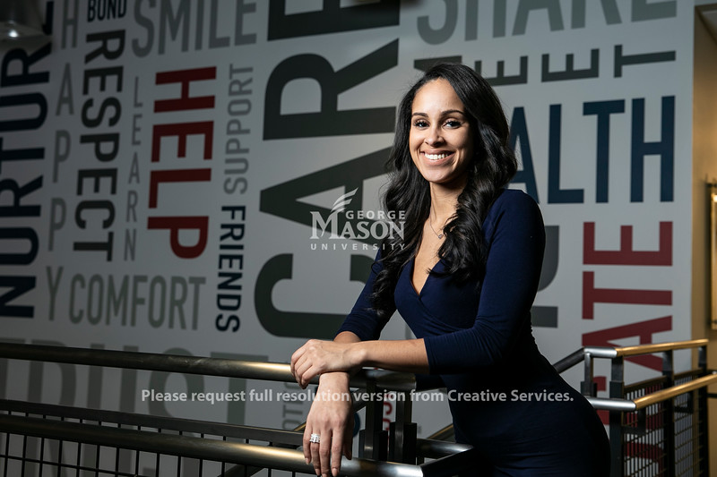 Cordelia Cranshaw, majored in social work, got her MSW and is working for DC family services and running a nonprofit.  Photo by:  Ron Aira/Creative Services/George Mason University