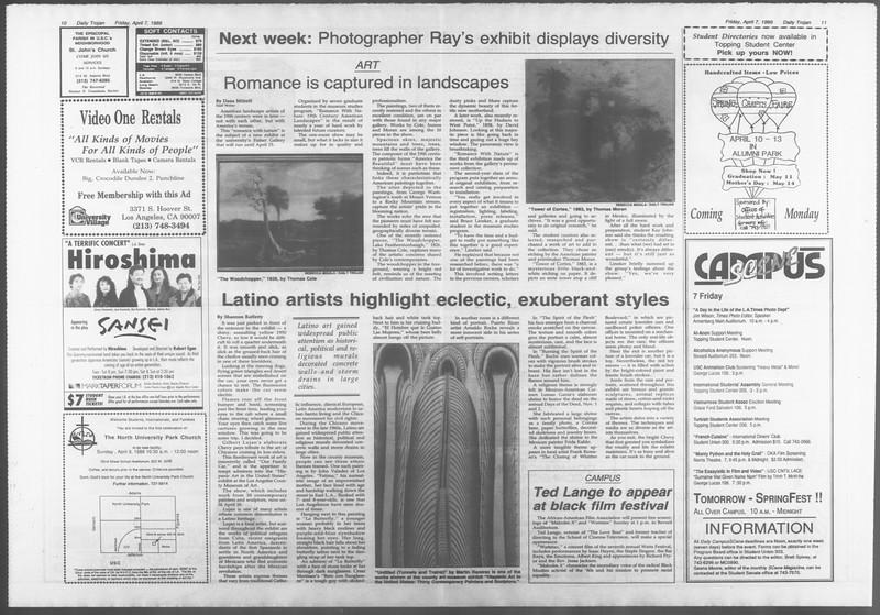 Daily Trojan, Vol. 108, No. 53, April 07, 1989