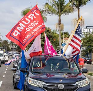 Trump Car Rally in Corona del Mar