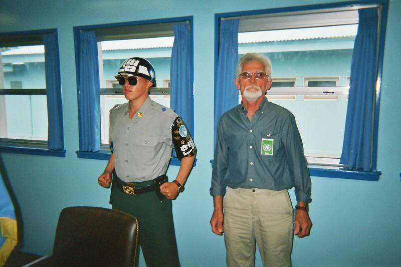 2004 June Dad Panmunjom North South Korea border.jpg