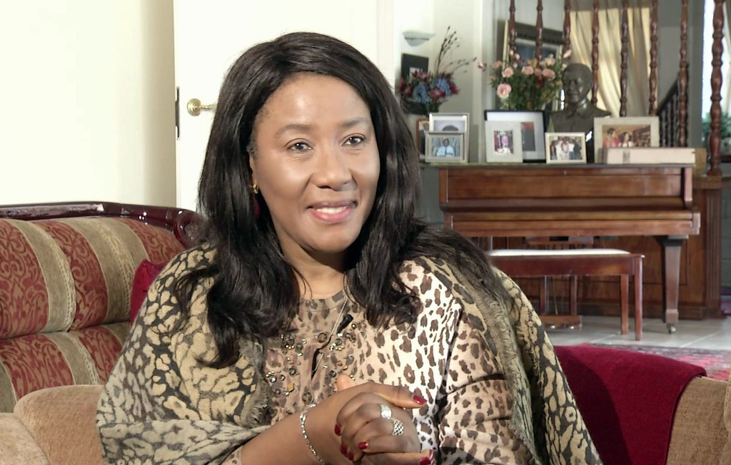 . In this Friday, May 24, 2013 image made from AP Video,  former South African President Nelson Mandela\'s daughter Makaziwe Mandela, speaks to the Associated Press, in Johannesburg, South Africa. Nelson Mandela, in the twilight of life, doesn\'t talk much anymore, his eldest daughter says. But the former South African president, who wrote of his regret at being unable to devote himself to his family during the fight against apartheid and afterward, reaches out in another way. (AP Photo/AP Video)