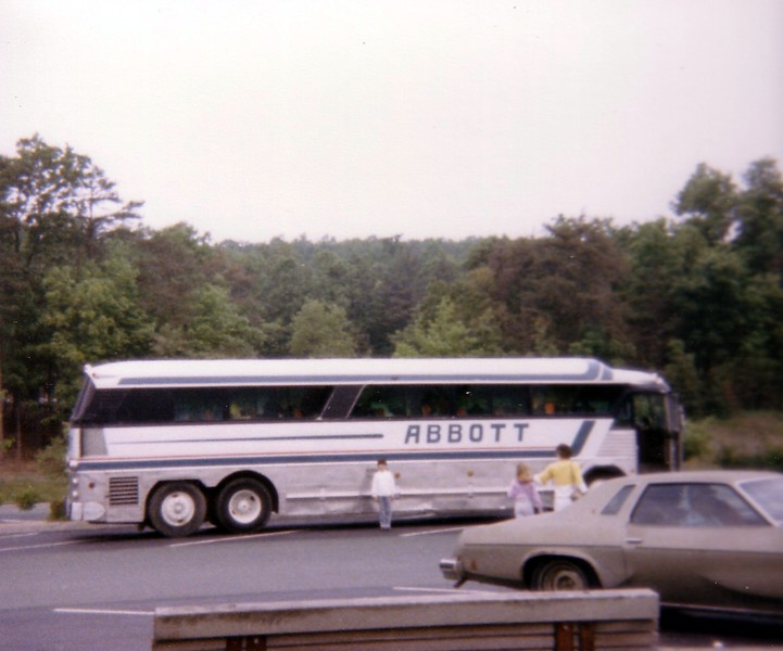 Abbott Bus, charter of choice for many a PLATO trip.