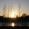 Frosty Sunset Lake - Wanstead Park, UK