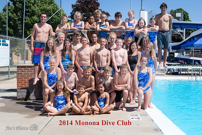 Monona Swim & Dive - Dive Team - June 13, 2014