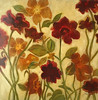 """Flowers A-Hibberd, 30""""X30"""" paining on unframed paper"""