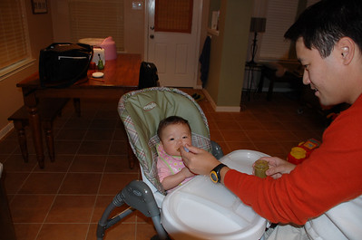 November 25, 2007 - Mmmmmm Green Beans for the 1st time.