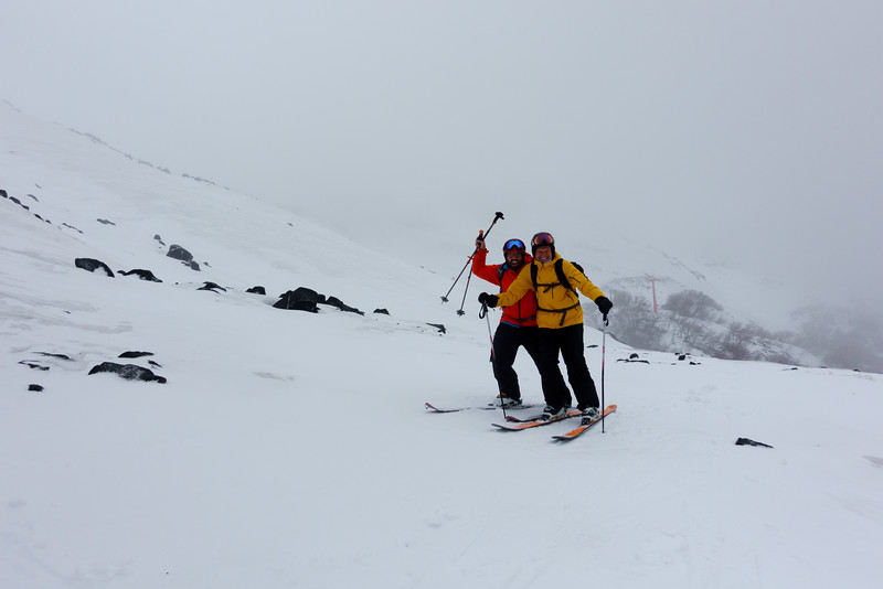 Dad and I out skiing at Altonevados de Chillan.