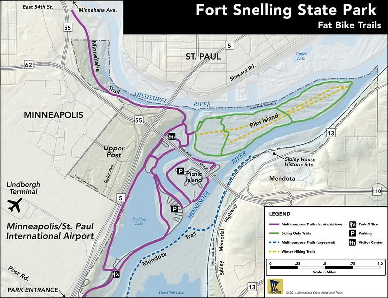 Fort Snelling State Park (Winter Bike Trails)