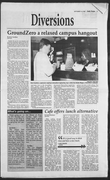 Daily Trojan, Vol. 132, No. 15, September 18, 1997