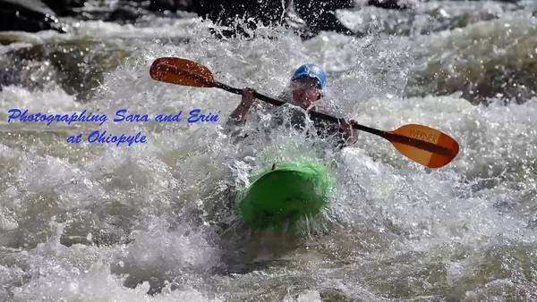 Photographing Erin and Sara kayaking at Ohiopyle