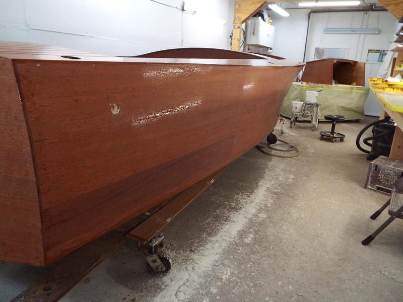 Rear starboard side sanded.