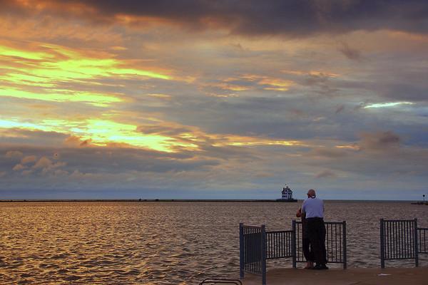 Tonight's Sunset Couple at the Pier 10-10-2018