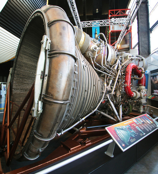 A Saturn 5 Rocket engine