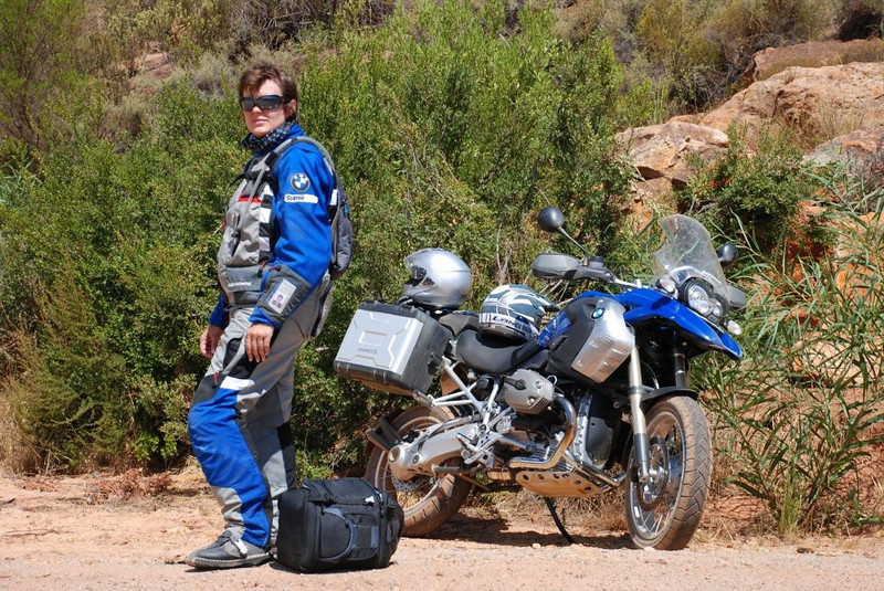Photo by Gillian Hine -http://www.unicornpictures.ifp3.com A friend, Talitha on the BMW South Africa launch for the new R 1200 GS http://www.gsadventures.co.za