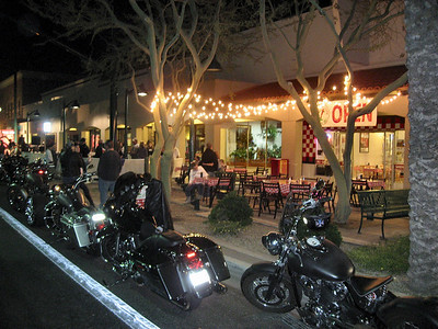 Motorcycles on Main Mesa