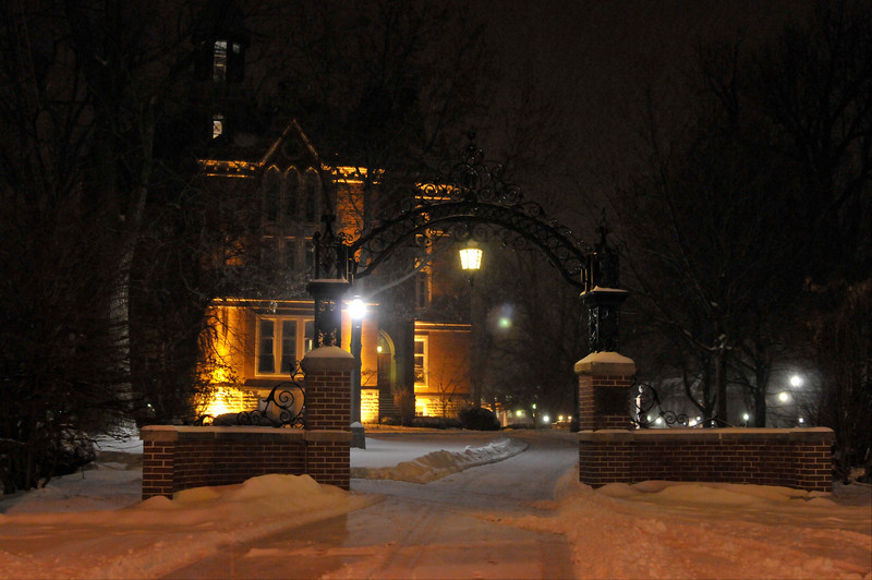 Early Morning Snow on DePauw Campus