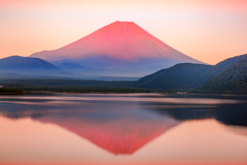 Mt Fuji from Lake Motosu. Editorial credit: onemu / Shutterstock.com