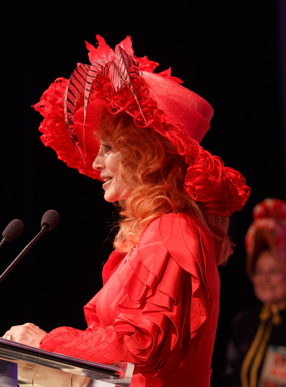 . Judi Wolf.  Women with Hattitude luncheon, benefiting the Women\'s Voices Fund, created by the Denver Center Theatre Company, at the Denver Center for Performing Arts, Seawell Ballroom, in Denver, Colorado, on Thursday, May 5, 2016. Photo Steve Peterson