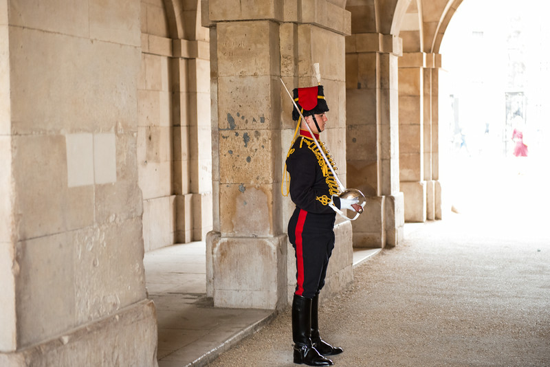 Guard in Central London
