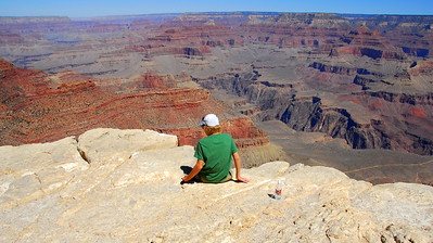 Sitting on the South Rim.