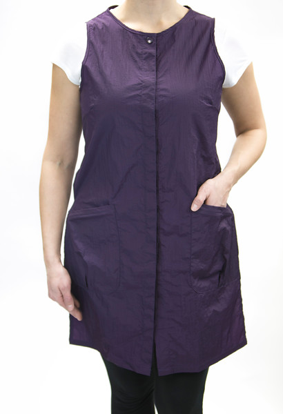 zipper vest long eggplant3.jpg