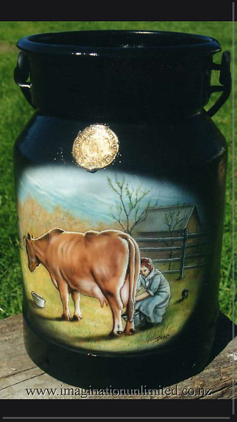 Milk can cow painting by Dean Lawrence.png