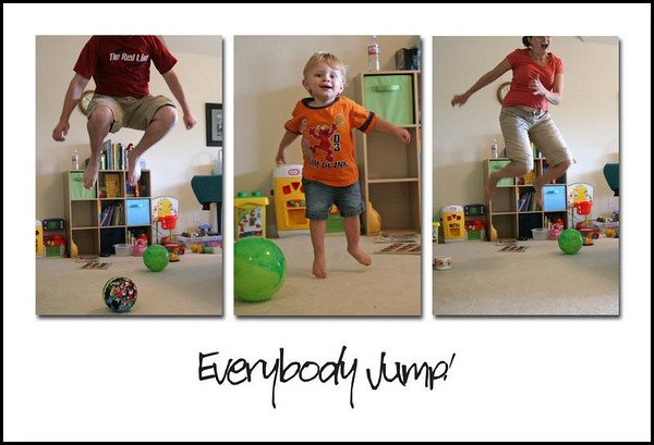 Jonah, Daddy & Mommy Playing & Jumping - June 21, 2008