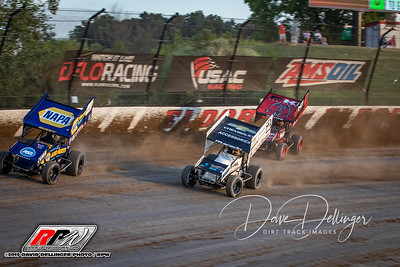 Eldora Speedway - #LetsRaceTwo - World Of Outlaws - USAC - 7/17/19 - Dave Dellinger
