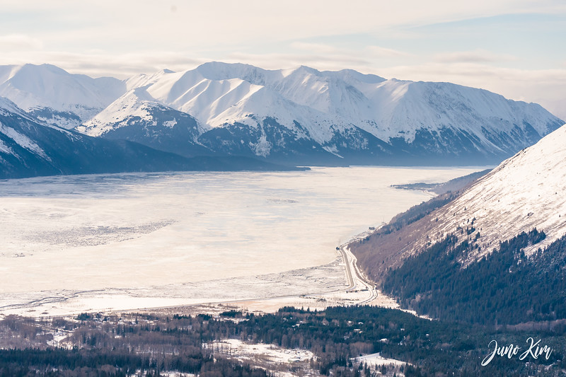 View of Turnagain Arm from Alyeska Resort