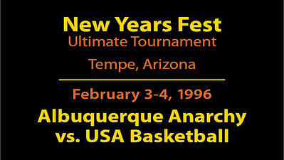 1996 NYF - ABQ vs. USA Basketball